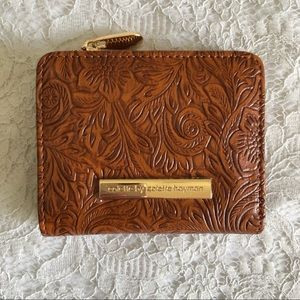Collette by Collette Hayman Boho Tooled Faux Leather Wallet Tan and Gold